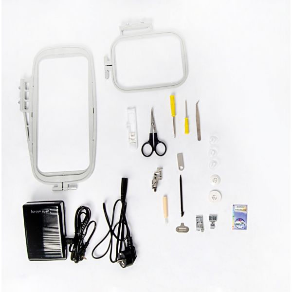 Máquina Bordado Doméstica Ss-1400 Bivolt Eletrônica Branca - Sun Special