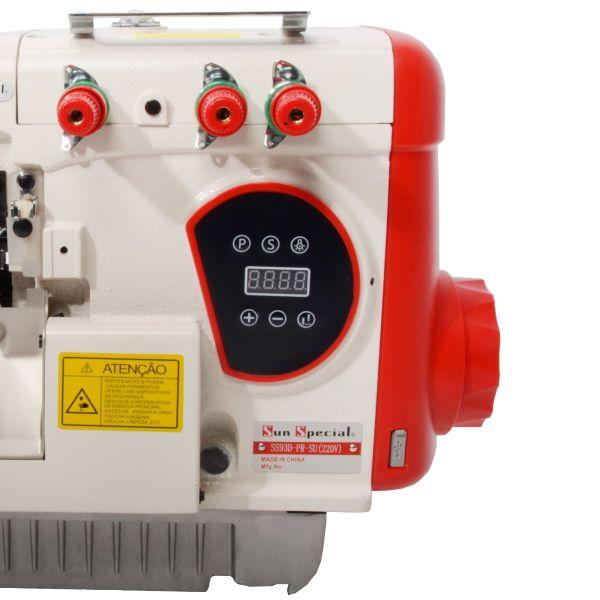 Máquina Costura Overlock Industrial Direct Drive Control Box Acoplado Cabeçote 110v SS93D-PR-SU - Sun Special