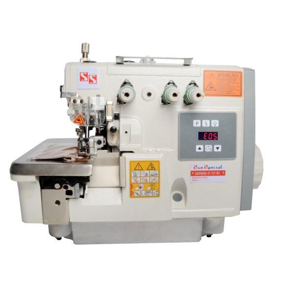 Máquina Costura Overlok Industrial Controbox Acoplado Cabeçote 220v SS900D-3-TZ-QI - Sun Special