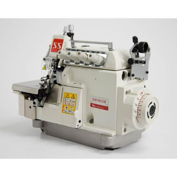 Máquina Costura Industrial Overlock Ponto Cadeia Direct Drive Transporte Superior SS889T-4-M03-333-MQ Sun Special