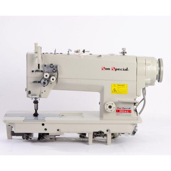 Máquina Costura Industrial Pespontadeira Barra Fixa Direct Drive SS8720-BA-QI Sun Special