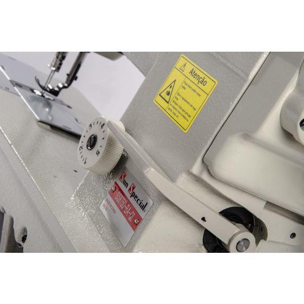 Máquina Costura Industrial Pespontadeira Barra Fixa Direct Drive SS8750-BA-QI Sun Special
