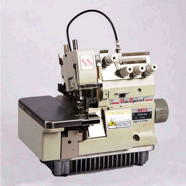 Máquina Costura Industrial Overlock Ponto Cadeia Embutidor Correntinha SSTC31004C Sun Special