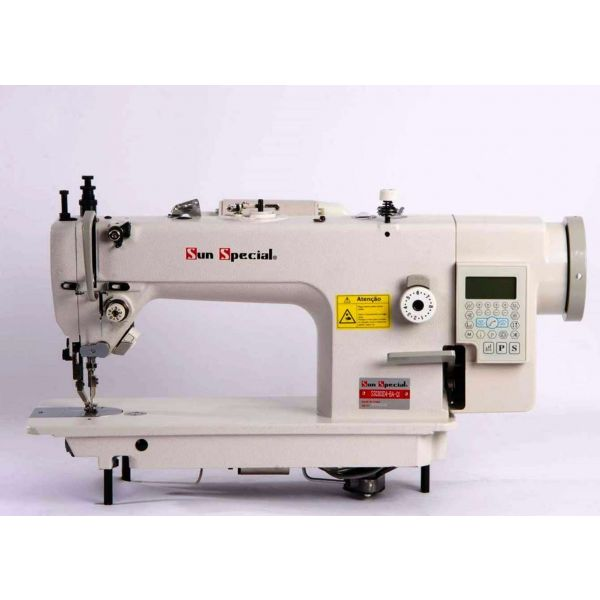 Máquina Costura Industrial Reta Transporte Duplo Eletrônica SS0303D4-BA-QI Sun Special