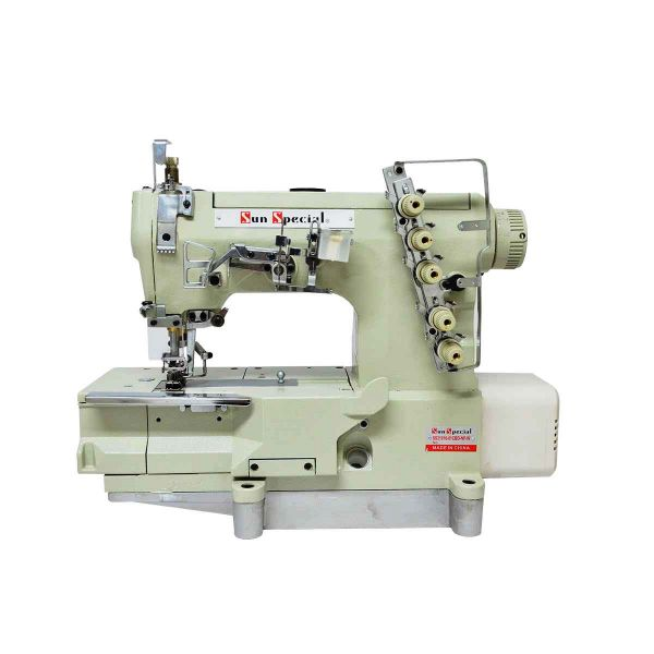 Máquina Máquina Costura Industrial Galoneira Plana Aberta e Fechada 3 Agulhas Bivolt SS-31016-01CB-D-NPW Sun Special Industrial Galoneira Plana Aberta e Fechada 3 Agulhas Bivolt SS-31016-01CB-D-NPW Sun Special