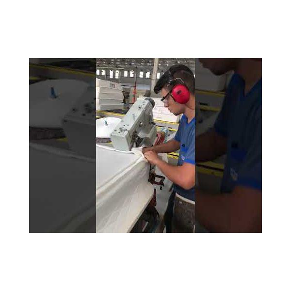 Máquina Costura Industrial Braço Cilíndrica Transporte Triplo SSTC3-P445-VB Sun Special