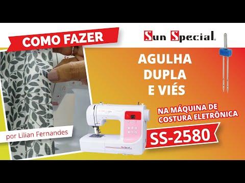 Máquina Costura Doméstica Ss-2580 Bivolt Eletrônica Branca - Sun Special