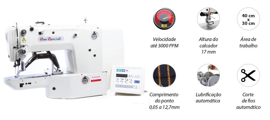Máquina de Costura Industrial Travete Eletrônico