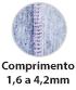 Máquina de Costura Industrial Galoneira Plana Aberta e Fechada 03 Agulhas Comprimento do Ponto até 4,2mm